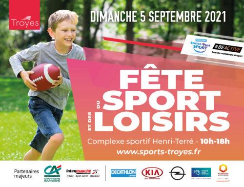 Retrouvez nous à la fête du sport / dimanche 5 sept.